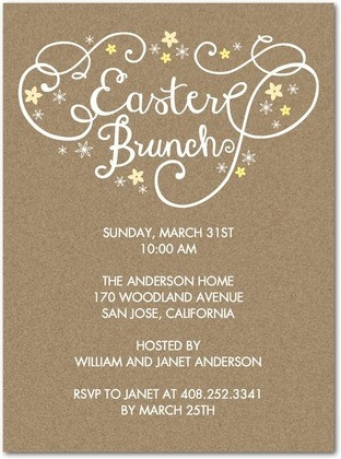 """Create a """"Blissful Brunch"""" invitation for Easter from Tiny Prints!"""