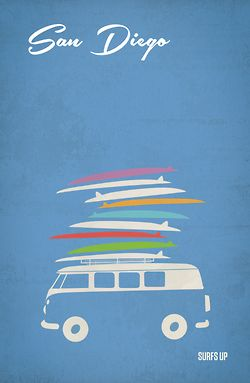 p-musette:  (San Diego Travel Posters on Behanceから)