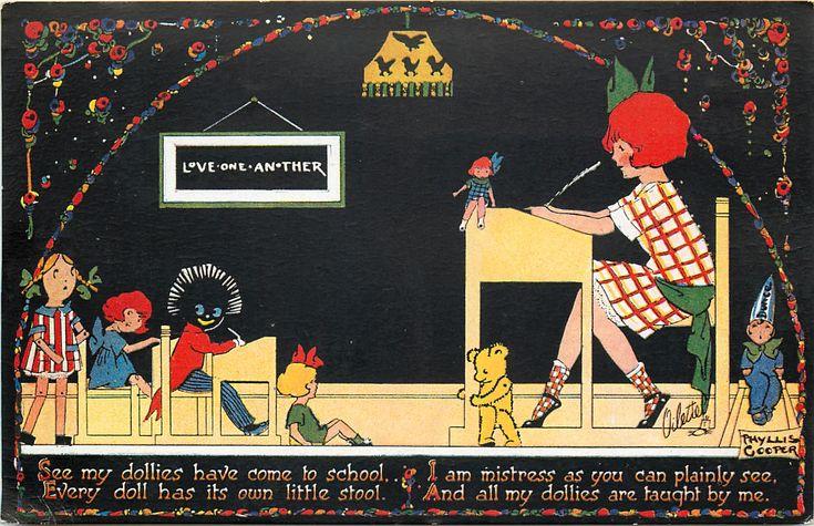 Vintage Phyllis Cooper postcard