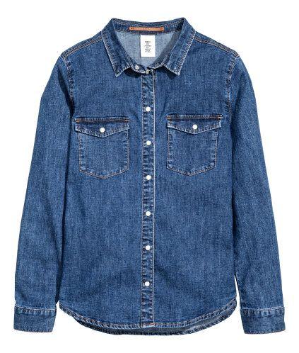 Jeansskjorta   Mörk denimblå   Dam   H&M SE. Denim ShirtsShirt ...
