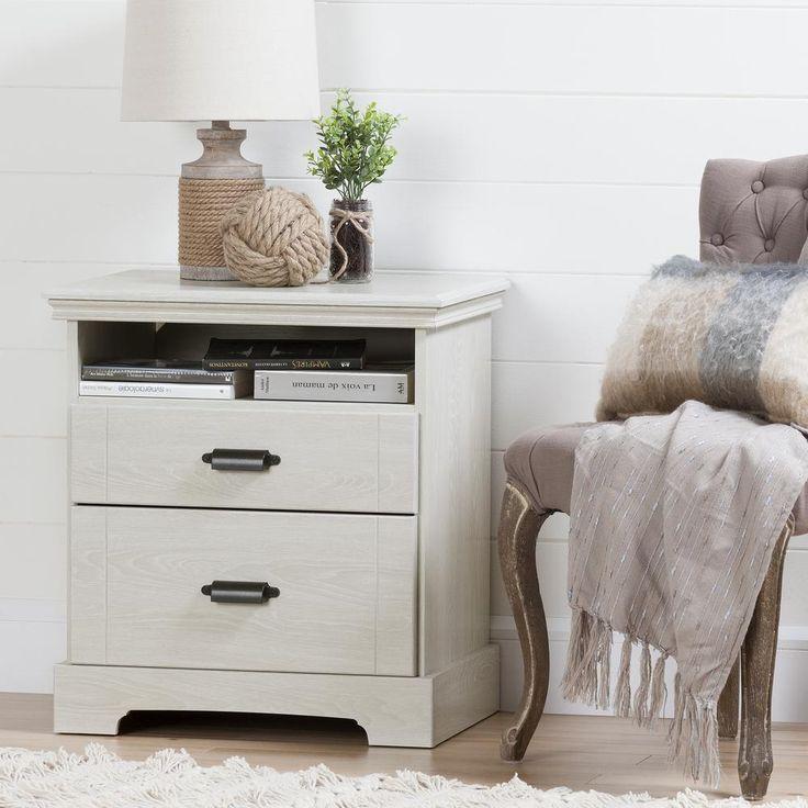 Avilla 2-Drawer Winter Oak Nightstand
