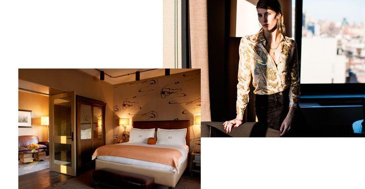 The Fashion Crowd's Top 5 New York Hotels. // Veronika Heilbrunner shot by Sandra Semburg for Hey Woman at the Soho Grand.