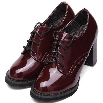 Burgundy patent oxfords