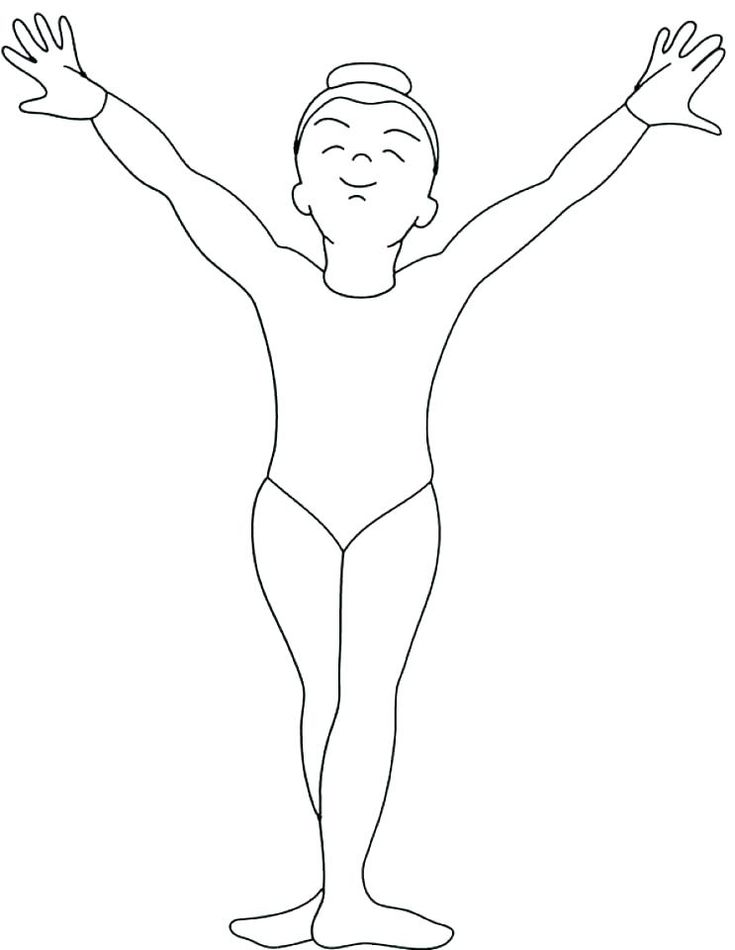 Gymnastic Coloring Pages Gymnastics To Print Page ...