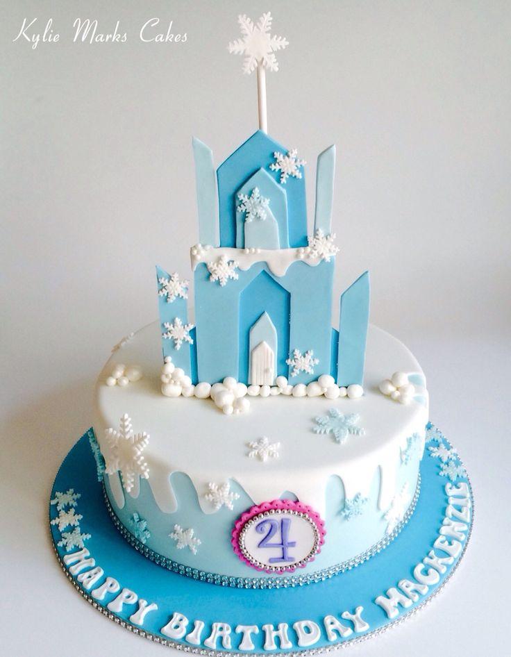 Ice castle cake