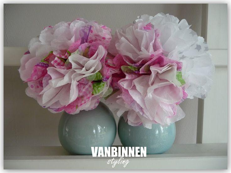 servet bloem knutselen