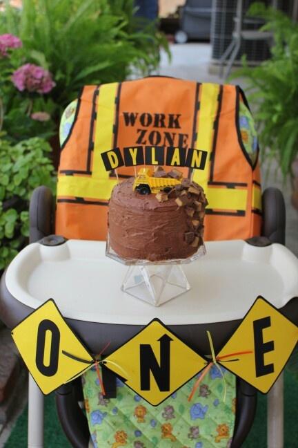 Dump truck smash cake
