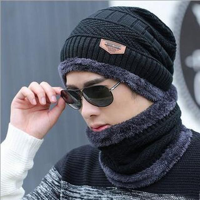 High Quality Men's Matching Knitted Winter Hat and Ring Scarf  Available in 6 Colours  One Size for All