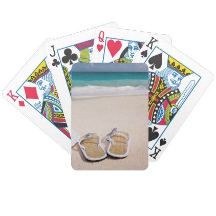 Flip Flops and Beach Sand Bicycle Playing Cards - photographer gifts business diy cyo personalize unique