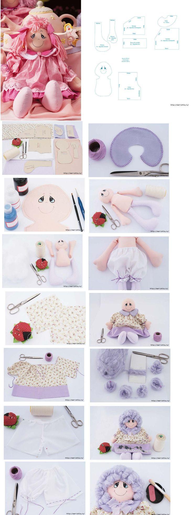 инструкция изготовление куклы маппет