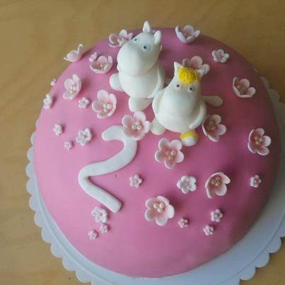 Birthday Party for my 2 Year Old - We had my daughter's birthday Moomin party some time ago and it was so much fun! I made this Moomin fondant cake as they are her favorite characters.