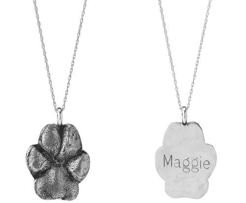 Custom paw print necklace.  @Steven Eliason knows what to get me when he's in the mood to get me something.