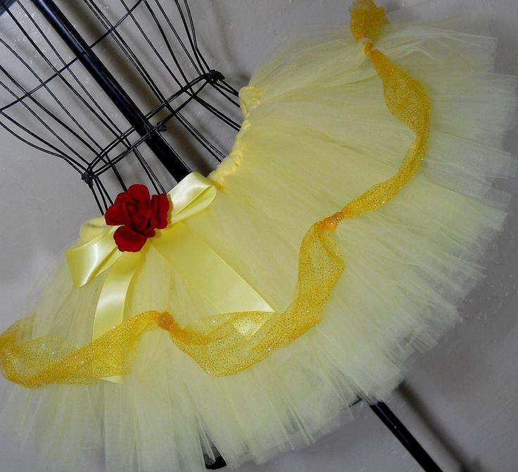 Belle Beauty and the Beast Princess Running Tutu. 9 inch tutu. $36.95, via Etsy. Great for running the Disney Half Marathon