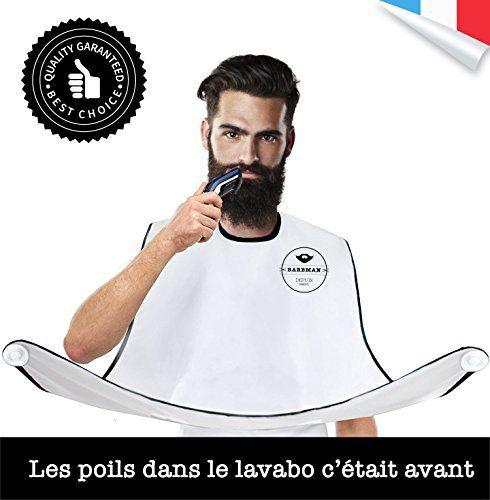 barbman le bavoir pour se raser la barbe sans laisser de poils cadeau ideal pour hipster. Black Bedroom Furniture Sets. Home Design Ideas