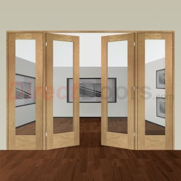 Image of Easi-Frame Oak Door Set, GOSHAP10-COEOP6, 2005mm Height, 2824mm Wide.