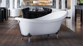Victorian Freestanding tub with Chrome feet, by TuttoBagno Italian Designer Bathrooms