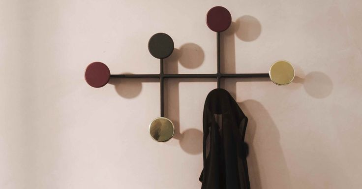 Menu Afteroom Coat Hanger zwart/messing  SHOP ONLINE: https://www.purelifestyle.be/menu-afteroom-coat-hanger-zwart-messing.html