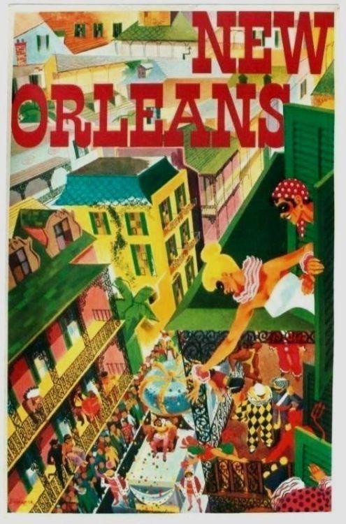 New Orleans Mardi Gras poster, c.1960