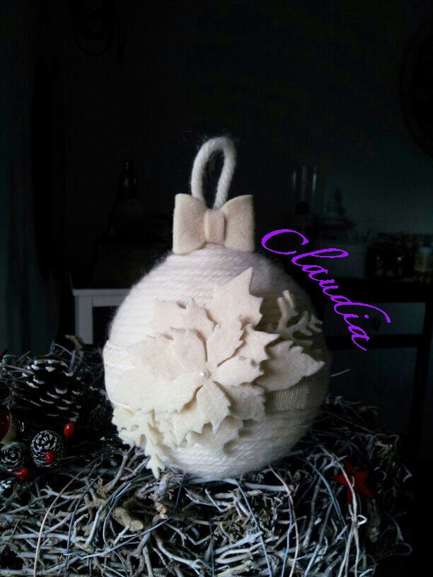 Palla in lana e Feltro. Natale 2015