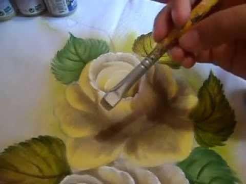 como pintar uma rosa, super novidade da cor. - YouTube