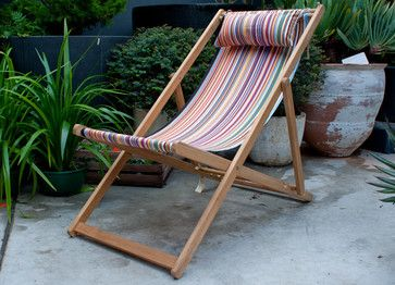 French Canvas Deck Chair - traditional - Outdoor Folding Chairs - Garden Life