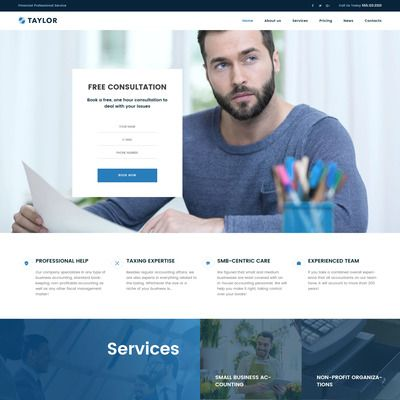 Accounting Website Responsive WordPress Theme
