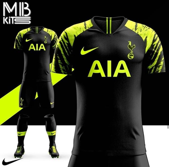 the best attitude 7b77c 876a5 Black and neon/lime green Tottenham Hotspur away kit ...