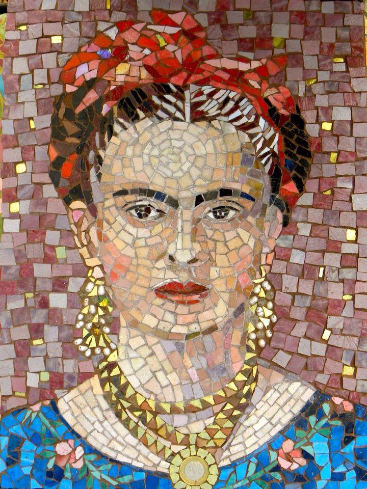 Mosaic portrait of Frida Kahlo