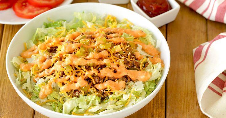 Healthy Big Mac Swap: Burger Bowl Recipe | Hungry Girl
