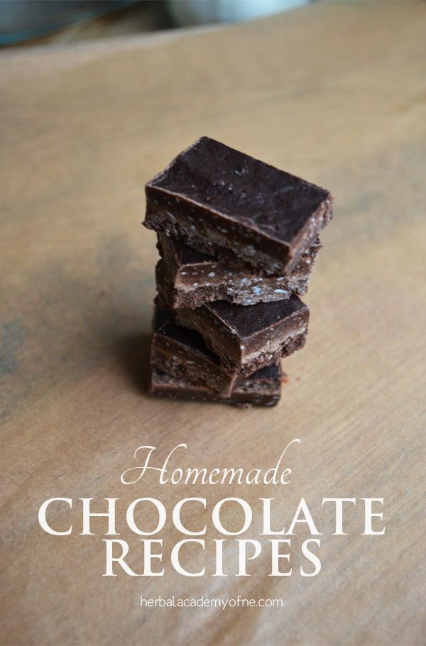 Healthy Homemade Chocolate Recipes for Decadent Herbal Chocolates using herbs and spices, fruits and nuts. Start with the base recipe and mix in additions!