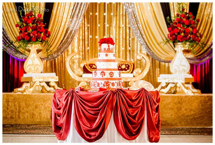 Red Wedding Decorations Reception