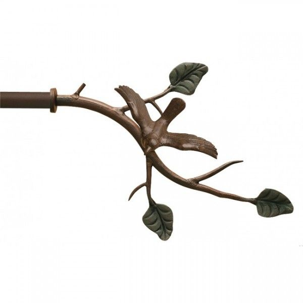 Bird On Branch Finial For 3 4 Curtain Rod Each Finials For