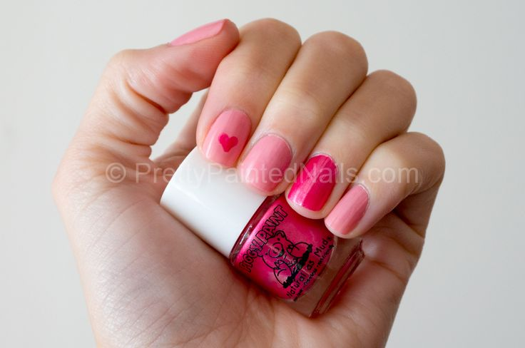 Piggy Paint Water Based Nail Polish Swatch Forever Fancy Sparkly Pink  http://prettypaintednails.com/nail-polish-for-kids/water-based-piggy-paint-swatches-pinks/