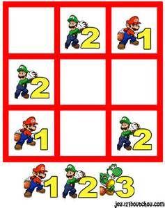 jeu de sudoku 'Grille sudoku Facile mario n° 4' pour enfant a ...