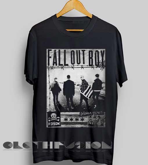 Unisex Premium Fall Out Boy T shirt Zine Photo Design Clothfusion