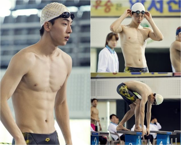 "Omo! Daeeeebak!| Nam Joo Hyuk Is a Lean and Fit Swimmer for ""Who Are You – School 2015″"