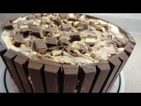 Kit Kat Candy Bar Ice Cream Cake - YouTube