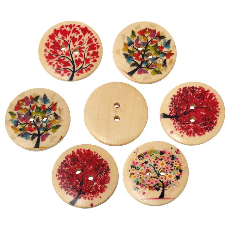 天然木パターンラウンド2穴天然木製ボタンスクラップブッキング縫製アクセサリー用クラフトランダム混合3センチ20ピース