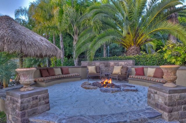 Seashore sand hearth pit #backyards #firepit #seashore.... >>> See even more at the photo