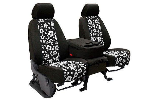 CalTrend Hawaiian NeoSupreme Seat Covers - Best Price on Neoprene Hawaiian Print, Hibiscus Flower Seat Covers for Cars, Trucks & SUVs