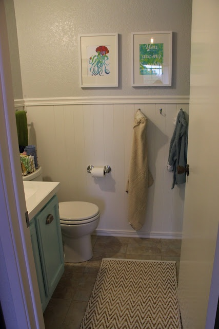 Wainscoting bathroom remodel