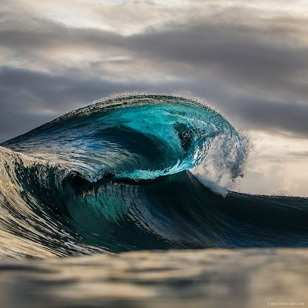 """""""The best way is to swim into the waves and become part of the element to capture the best of it."""" –Ben Thouard Photography"""
