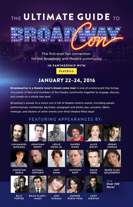 Check Out Ultimate BroadwayCon Guide from This Month's Playbill Magazine! Weekend Passes Sold-Out! - Playbill.com