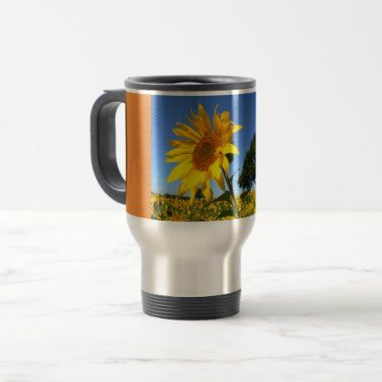 Field Of Sunflowers Sunflower 1.4 Travel Mug - home gifts ideas decor special unique custom individual customized individualized