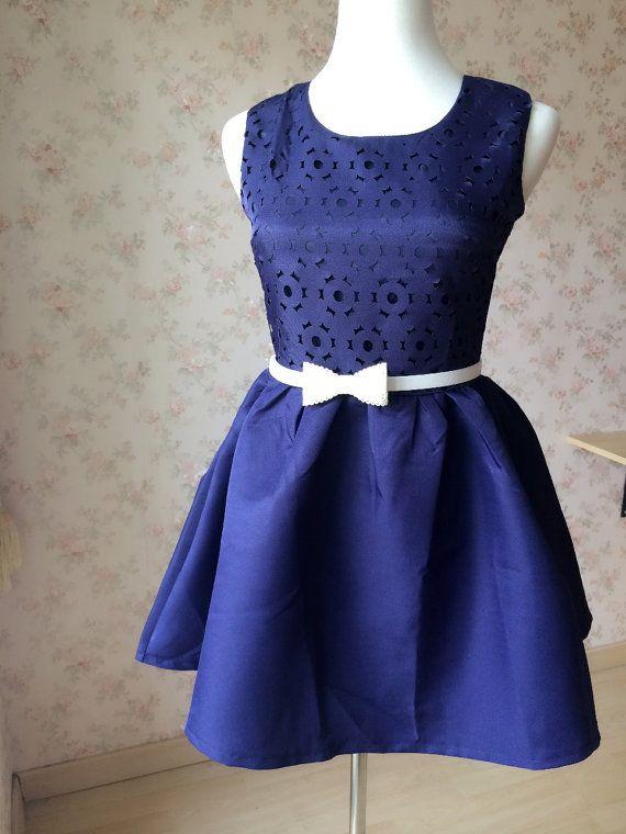 Sale Navy BLUE COCKTAIL DRESS  Short Navy Dresses by magic1668