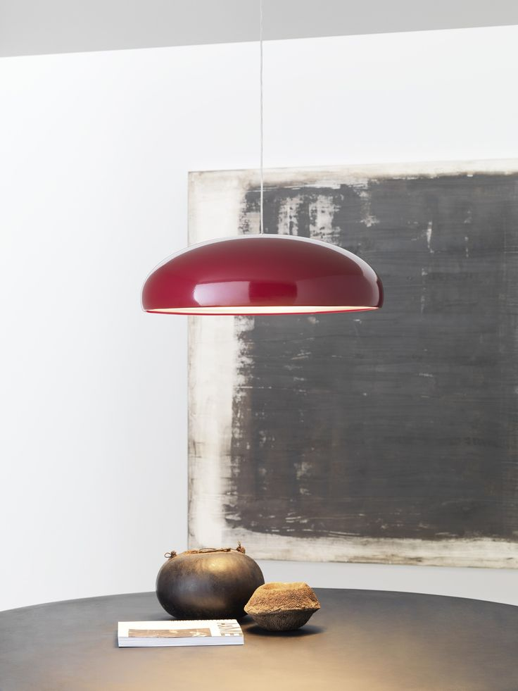 PANGEN Pendant Lamp By FontanaArte | A Fluid, Minimal Dome Shaped Lamp With  A Glossy