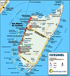 cozumel mexico map cozumel map Pinteres