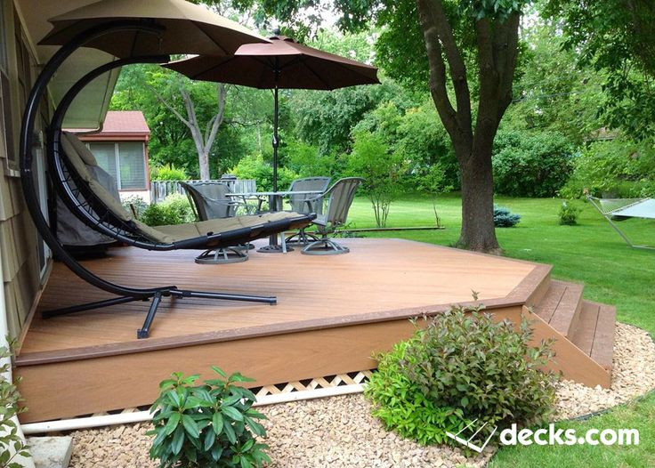 how to build a ground level composite deck