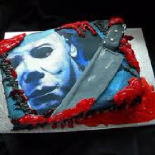 michael myers bloody cake i want to eat the shit outta this badass cake - Michael Myers Halloween Decorations