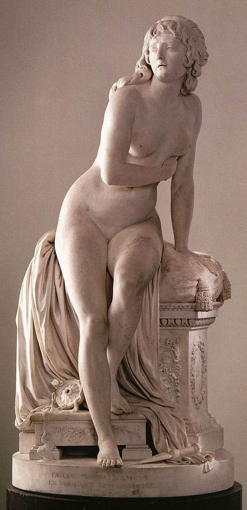 Augustin Pajou (France, 1730-1809) Psyche Abandoned, 1790, marble, height 180 cm  Louvre/Paris